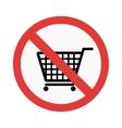 No take basket sign vector image vector image