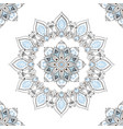 oriental mandala flower seamless pattern black vector image