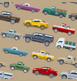 pickup car seamless pattern auto delivery vector image vector image