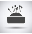 Pin cushion icon vector image