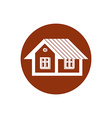Real estate icon abstract house Property developer vector image