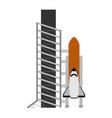 rocket ready launch vector image vector image