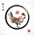 rooster symbol chinese new year 2017 vector image