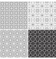set monochrome geometric patterns without vector image vector image