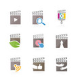set of clapperboard logo combination movie and vector image vector image