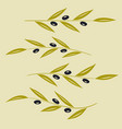 set olive branch sign vector image