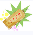 shopping offer vector image vector image