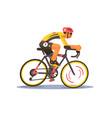 sport athlete cyclist vector image vector image