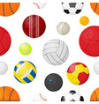 sport balls background flat banner with balls vector image