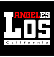 T shirt typography Los Angeles black vector image vector image