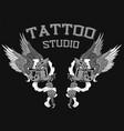 tattoo studio logo vector image