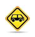 traffic sign concept icon van car vector image