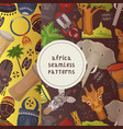 travel africa set seamless patterns vector image vector image