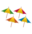 Umbrella for drink vector image