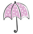 umbrella hand drawn design on white background vector image vector image