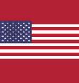 usa flag isolate banner print vector image
