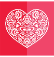 Valentines Day card - Polish folk art heart vector image