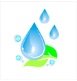 water drops icons with snowflakes vector image vector image