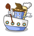 witch ship mascot cartoon style vector image vector image