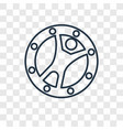 zorbing concept linear icon isolated on vector image