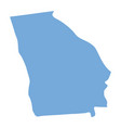 georgia state map vector image