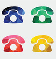 phone icon Abstract Triangle vector image