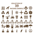 Packing simbols vector image