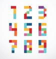 Alphabet blocks style set vector image