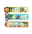 animal bookmarks vector image vector image