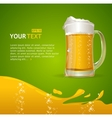 Beer mug background for text vector image