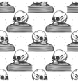 Book and human skull seamless pattern vector image vector image