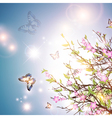 bright spring background vector image vector image
