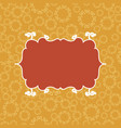 brown on yellow vintage seamless pattern vector image vector image