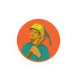 Coal Miner Pick Axe Circle Watercolor vector image vector image