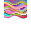 colorful modern liquid waves abstract background vector image