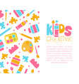 creative kids banner template with space for text vector image