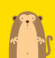 cute big fat monkey vector image vector image