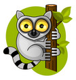 cute lemur on the branch vector image