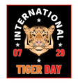 day tiger 0019 vector image vector image