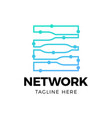 digital network block chain logo technology icon vector image vector image