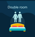 double room flat concept icon vector image vector image