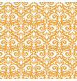 elegant damask pattern ornate floral sprigs vector image