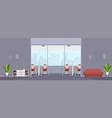 empty modern office interior open co-working vector image vector image