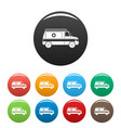 fast ambulance icons set color vector image vector image