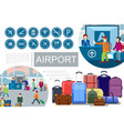 flat airport composition vector image vector image