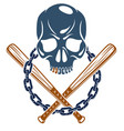 gangster emblem logo or tattoo with aggressive vector image vector image