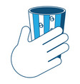 glass of drink icon vector image vector image