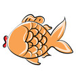 gold fish on white background vector image vector image