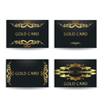 Golden card vector image vector image
