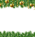 Golden Fir Tree Frame vector image vector image